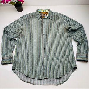 Robert Graham Dress Shirt size Large